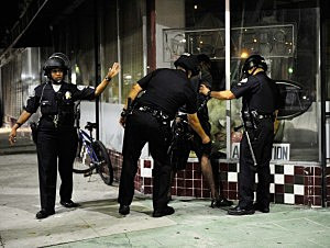 Demonstrators Protesting Zimmerman Verdict Clash With LAPD After Rally