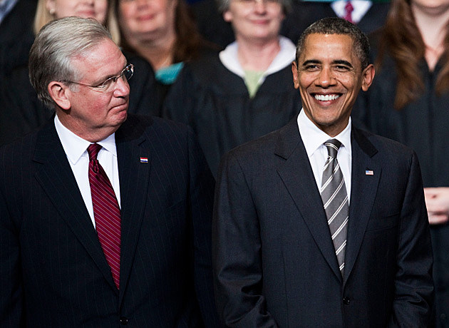 Jay Nixon and Barack Obama