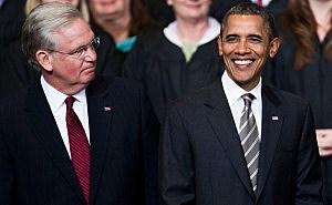 Jay Nixon and Barack Obama