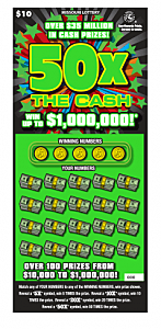50X The Cash Scratchers Ticket
