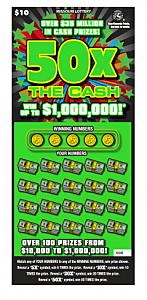 50X The Cash Scratchers Ticket