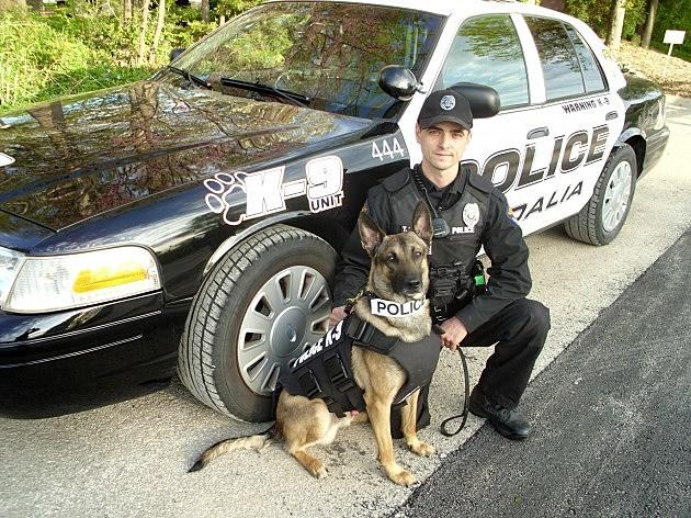 Sedalia Police Officer Travis Lorenz and K-9 Officer Charlie