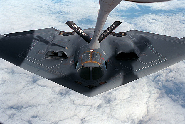A B-2 Bomber from Whiteman Air Force Base